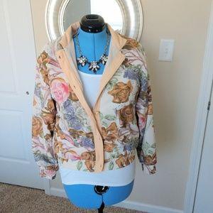 Oleg Cassini Floral Jacket Size M